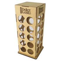 Porta cápsulas torre de mdf Dolce gusto com 40 espaços - Lojão Do Mdf