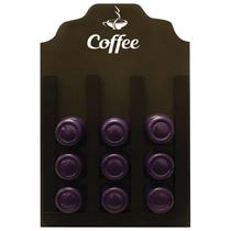 Porta Cápsulas Três Corações Coffe Preto 20x30cm - Kapos