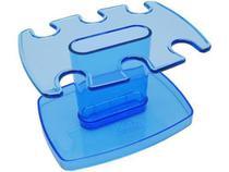 Porta carimbo modular p/6 lug. azul clear 806.2 - Acrimet