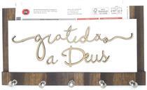 Porta Chaves Cartas Em Madeira Mdf Frase Gratidão A Deus A02 - Carioca Artesanatos