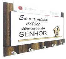 Porta Chaves Cartas Frase Evangélica Em Madeira Mdf A05 - Carioca Artesanatos