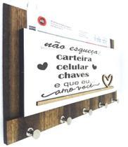 Porta Chaves  Cartas Não Esqueça Carteira Chaves Celular A01 - Carioca Artesanatos