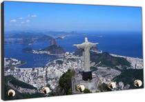 Porta Chaves Cidade Rio De Janeiro Cristo Redentor Organizador Chaveiros - Vital Quadros