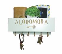 Porta Chaves E Organizador Compacto Alohomora - Harry Potter - Branco - Arbor
