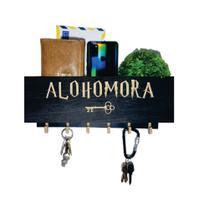 Porta Chaves E Organizador Compacto Alohomora - Harry Potter - Preto - Arbor