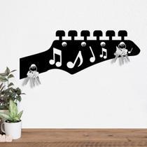 Porta Chaves Guitarra com Notas Musicais - Love Decor