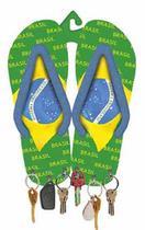 Porta Chaves MDF Decoupage Chinelo Brasil DM-046 - Litoarte -