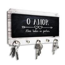 Porta Chaves O Amor Abre Todas as Portas - Davys Creative