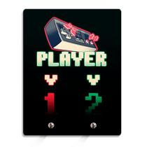 Porta Chaves Player 1 Player 2 Gamer 8 Bits - Fabrica geek