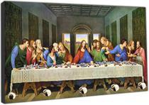 Porta Chaves Santa Ceia Jesus Apóstolos Católico Religioso Organizador Chaveiros - Vital Quadros