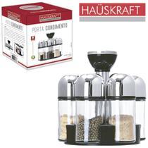Porta condimento de vidro borossilicato + 6 peças e suporte - Hauskraft