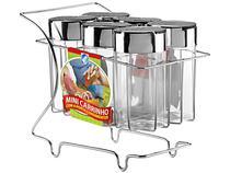Porta Condimentos 6 Peças com Suporte - Arthi 5309