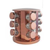 Porta Condimentos Base Giratória Rose 12 Potes Moderno - Mvm