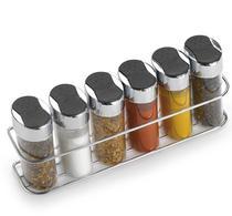 Porta condimentos com suporte e 6 potes em acrílico - Arthi