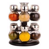 Porta Condimentos de Vidro Suporte Giratório 13 peças - Drina -