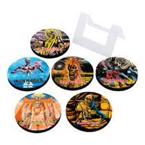 Porta Copos Em MDF Iron Maiden Albums - Artgeek