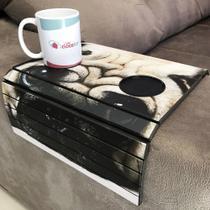 Porta Copos Esteira Para Sofa Adesivado Pug - Dcasa