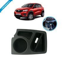 Porta Copos Treco Objetos Console Renault Kwid Todos Preto - Autoplast