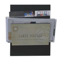Porta-Correspondências Carte Postale 20X25 Preto Kapos -