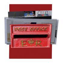 Porta-Correspondências Post Office 20X25 Vermelho Kapos -