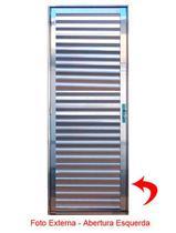 Porta de Alumínio Brilhante Palheta Lux Esquadrias -