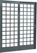 Porta de Correr Aço Belfort Sasazaki Quadriculada 2 Folhas 217cmx160cmx12cm Primer -