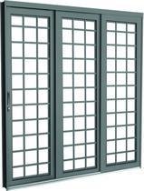 Porta De Correr De Aço Romana 3 Folhas 1 Fixa 150x215x14 Lado Direito - CRV -
