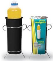 Porta Detergente Cromado e Preto 312-7 - Niquelart -