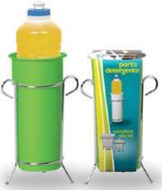 Porta Detergente Cromado e Verde 312-3 - Niquelart -