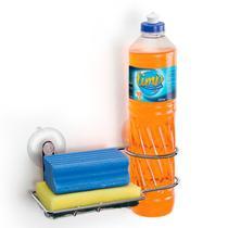 Porta Detergente E Bucha Com Ventosas ARTHI -