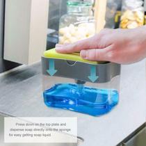 Porta Detergente Plastico com Bomba e Suporte de Esponja - Outros