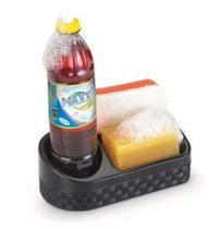 Porta detergente plástico rattan c/ base preto - nitron -