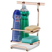 Porta Detergente Sabão e Esponja Para Barra Luxo Com Bandeja - Future