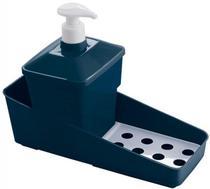 Porta Detergente Suporte Esponja Sabão Cozinha Azul Escuro - Plasutil