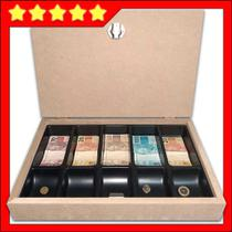 porta dinheiro e moedas com tranca para comércio tipo caixa - Balcões.Tk