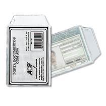Porta Documento Plástico ACP P-6 65x90mm - 100 Unidades -