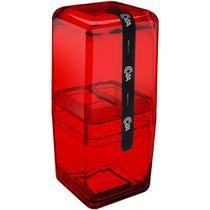 Porta Escova c/ Tampa Cube Vermelho 20877/0 Coza -