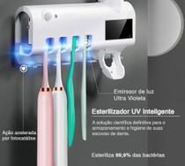 Porta Escova De Dente Esterilizador Uv Placa Solar Dispenser - Vision