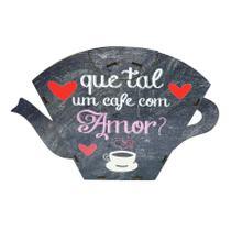 Porta Filtro Coador Café Descartável Modelo Que Tal Um Café 31x19 Mdf Madeira - Atacadão Do Artesanato Mdf