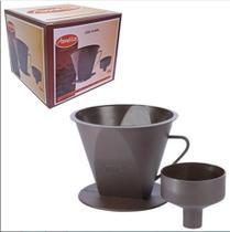Porta Filtro de Cafe com Adaptador de Plastico Marrom Amelia - Amélia