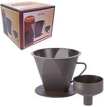 Porta Filtro de Cafe com Adaptador de Plastico Marrom Amelia - Melida