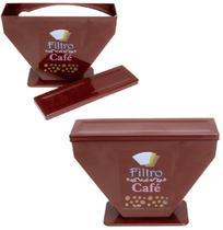 Porta Filtro de Papel para Café de Plastico Marrom 16x21,5cm - Maxximo