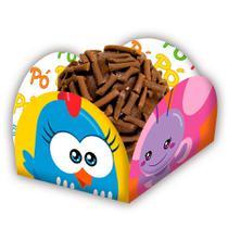 Porta Forminha Galinha Pintadinha Mini 40 unidades Festcolor - festabox
