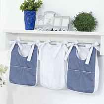 Porta Fraldas e Trecos 3 Peças Percal 300 Fios e Chambray Azul Jeans para Varão - Aime