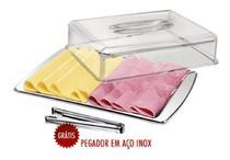 Porta Frios Duplo Inox 3 Peças Completo Mak-inox -