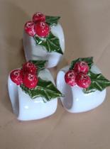Porta Guardanapo Em Cerâmica Com Detalhe De Natal - Ceramica Clara