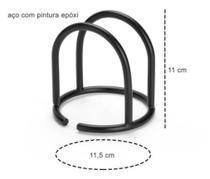 Porta Guardanapos Preto Aço Black - PLUGLAR