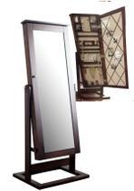 Porta Joia Caixa de Madeira com Porta de Espelho 1.45x58x18 cms - Mart