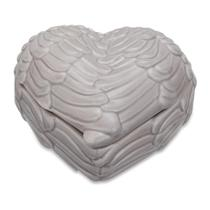 Porta Joias de Cerâmica Cinza Heart-Wing - Mart