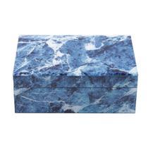 Porta joias de mármore azul e branco 24,5x17,5x9cm  3906 - Lyor